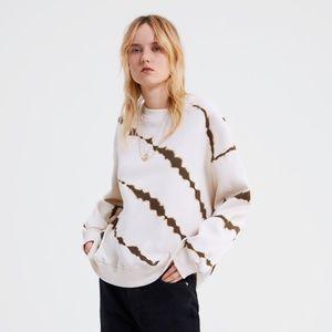 NWT Zara Size S Tie Dye Sweatshirt